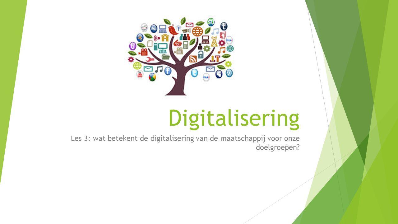 Digitalisering Les 3: wat betekent de digitalisering van de maatschappij voor onze doelgroepen?