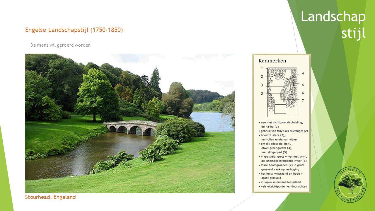 Engelse Landschapstijl (1750-1850) Stourhead, Engeland Landschap stijl De mens wil geroerd worden