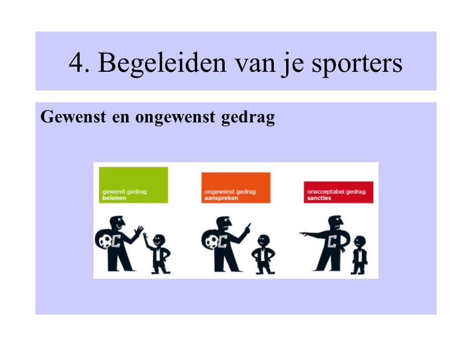 4. Begeleiden van je sporters Gewenst en ongewenst gedrag