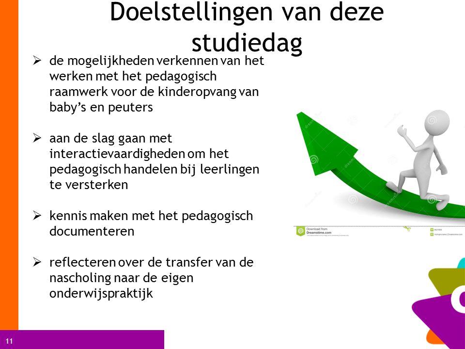 11  de mogelijkheden verkennen van het werken met het pedagogisch raamwerk voor de kinderopvang van baby's en peuters  aan de slag gaan met interact
