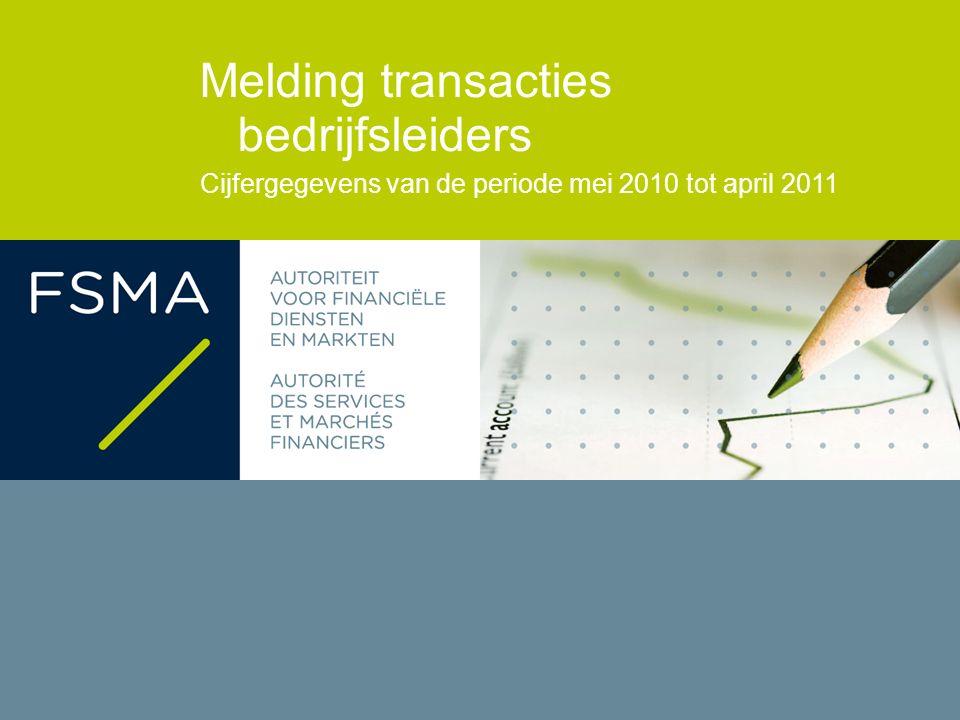 Melding transacties bedrijfsleiders Cijfergegevens van de periode mei 2010 tot april 2011