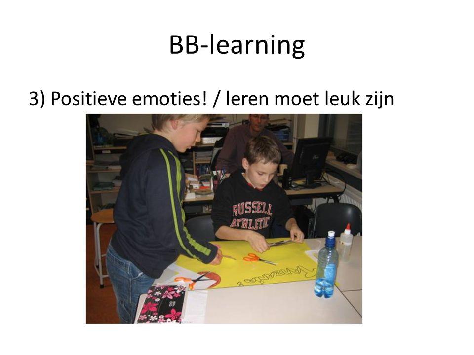 BB-learning 3) Positieve emoties! / leren moet leuk zijn