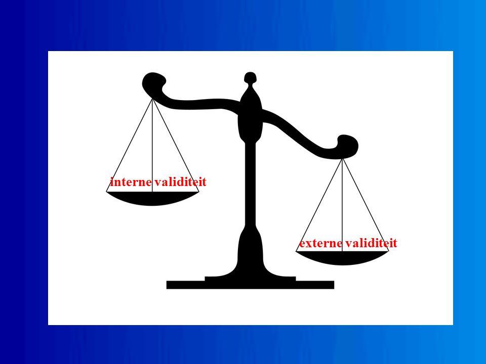 interne validiteit externe validiteit