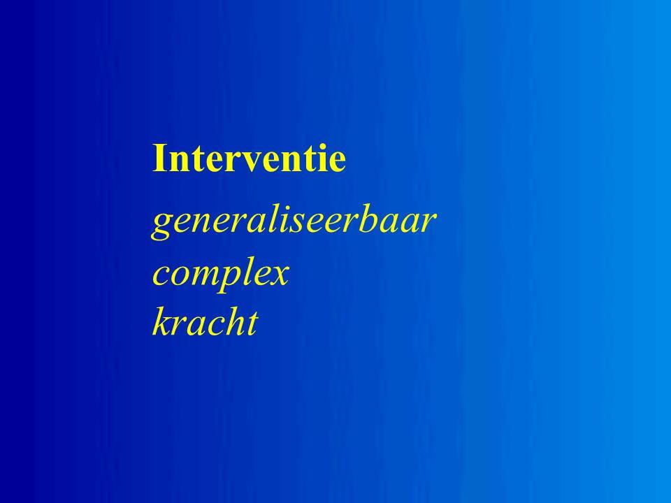 Interventie generaliseerbaar complex kracht
