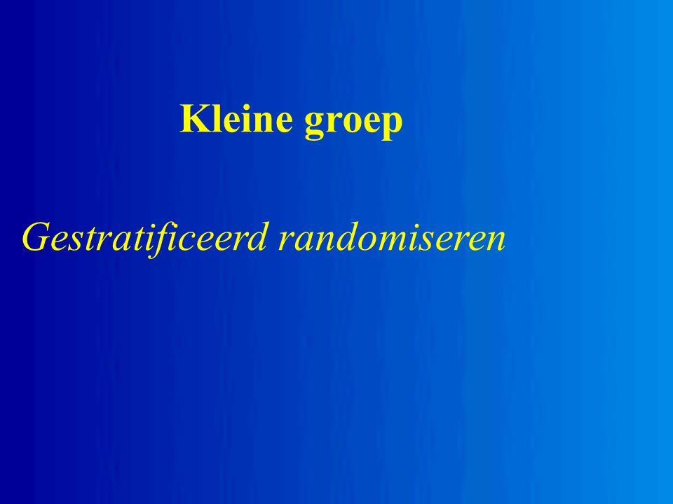 Kleine groep Gestratificeerd randomiseren
