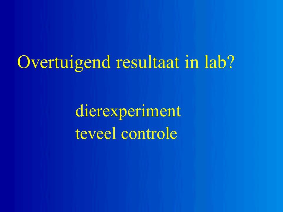 Overtuigend resultaat in lab? dierexperiment teveel controle