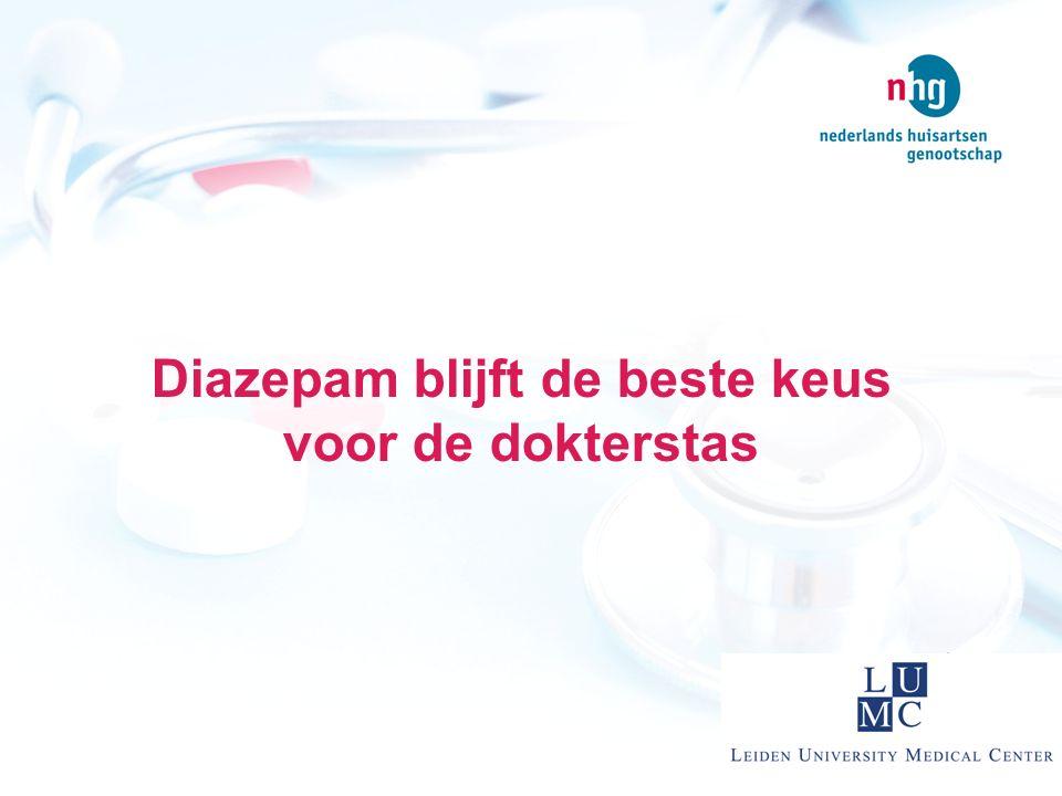 Diazepam blijft de beste keus voor de dokterstas