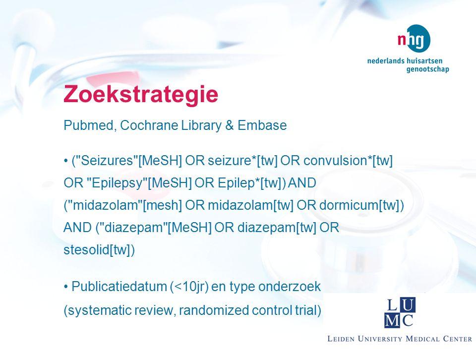 Zoekstrategie Pubmed, Cochrane Library & Embase (