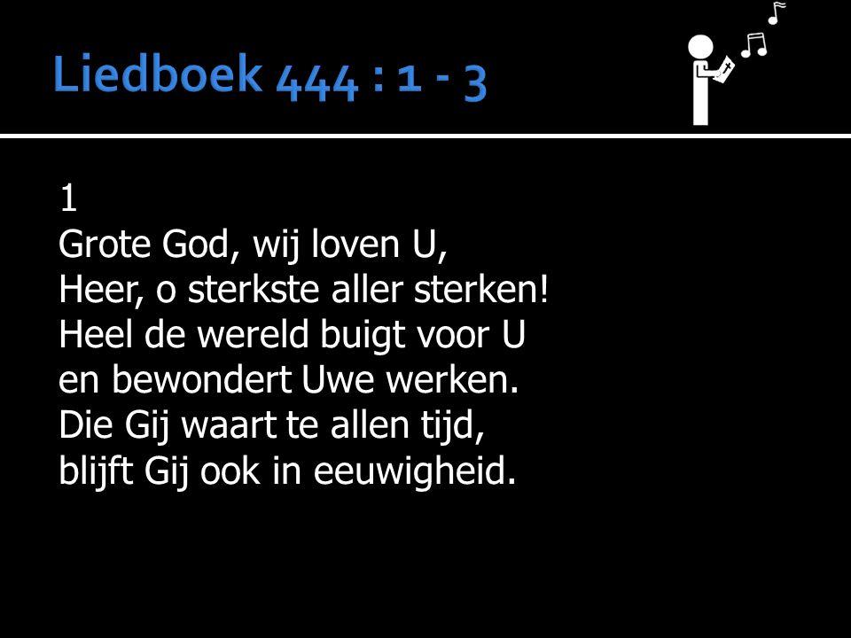 1 Grote God, wij loven U, Heer, o sterkste aller sterken.