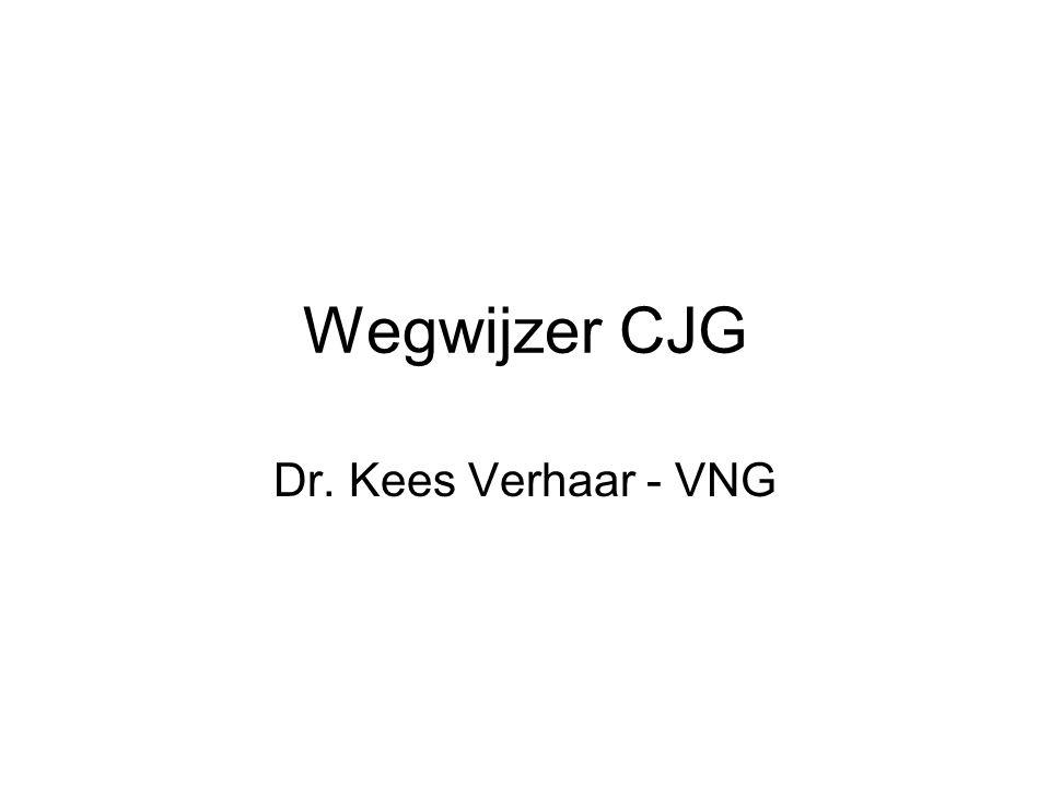 Wegwijzer CJG Het proces in vijf stappen: Waar staan we nu.