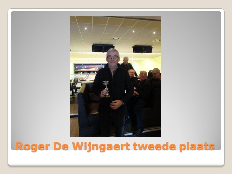 Roger De Wijngaert tweede plaats