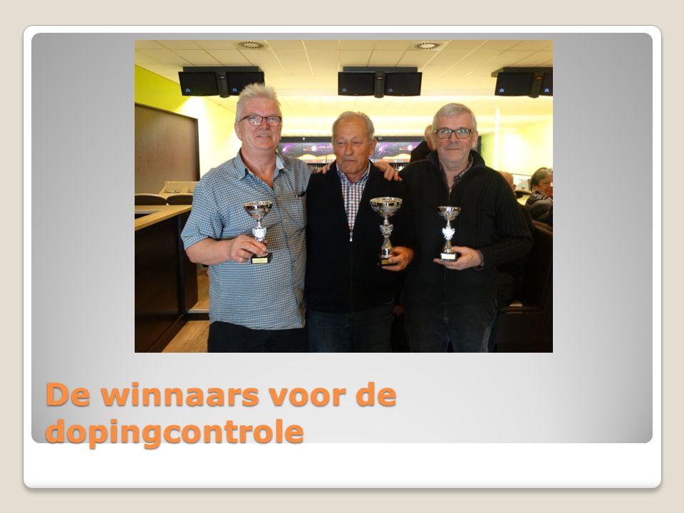De winnaars voor de dopingcontrole