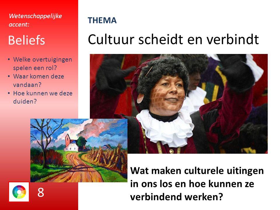 Cultuur scheidt en verbindt Beliefs Wat maken culturele uitingen in ons los en hoe kunnen ze verbindend werken.