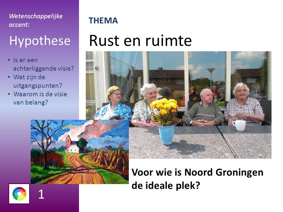 Rust en ruimte Hypothese Voor wie is Noord Groningen de ideale plek.