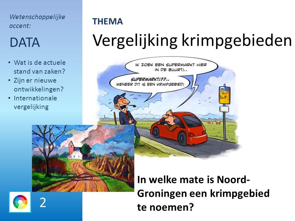 Vergelijking krimpgebieden DATA In welke mate is Noord- Groningen een krimpgebied te noemen.