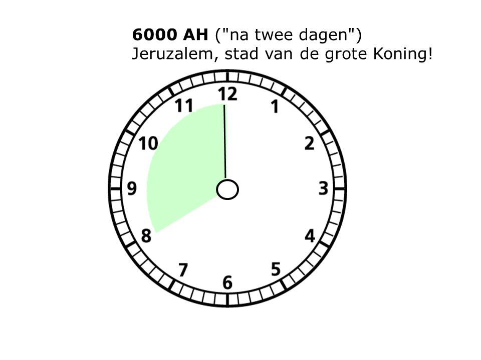 6000 AH ( na twee dagen ) Jeruzalem, stad van de grote Koning!