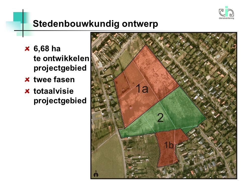 Stedenbouwkundig ontwerp 5 6,68 ha te ontwikkelen projectgebied twee fasen totaalvisie projectgebied