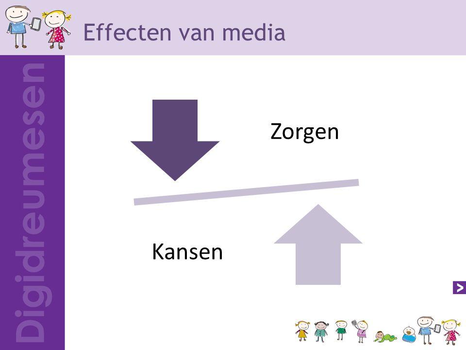 Effecten van media Zorgen Kanse n