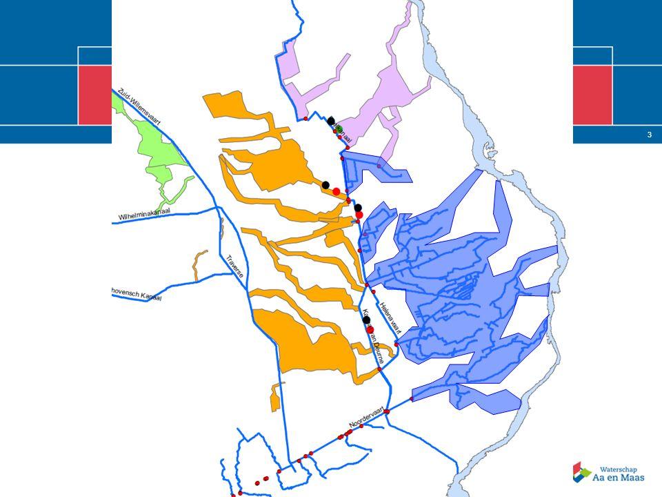 13 2 3 8 6 4 6 5 3 1 4 4 totale aanvoer in miljoen m3/jr Gemeten/berekend 2010 P&M A&M Wateraanvoer verdeling Noordervaart Totaal aanvoer 2009 67 miljoen m3 Totaal aanvoer 2010 53 miljoen m3