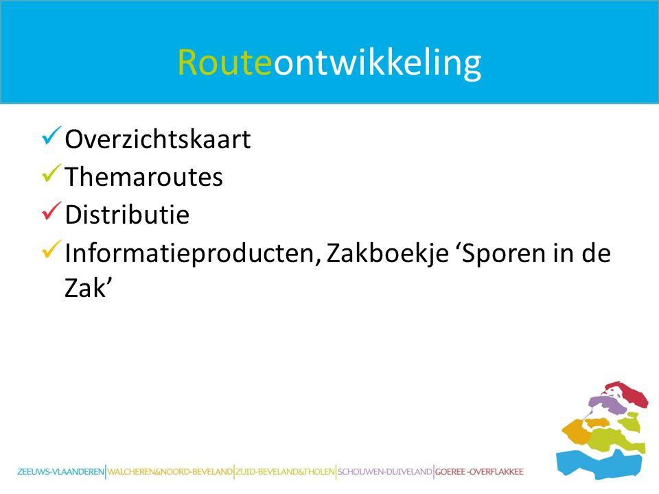 Routeontwikkeling Overzichtskaart Themaroutes Distributie Informatieproducten, Zakboekje 'Sporen in de Zak'