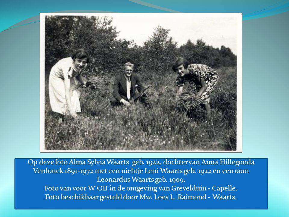 Op deze foto Alma Sylvia Waarts geb.