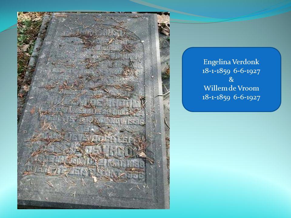 Engelina Verdonk 18-1-1859 6-6-1927 & Willem de Vroom 18-1-1859 6-6-1927