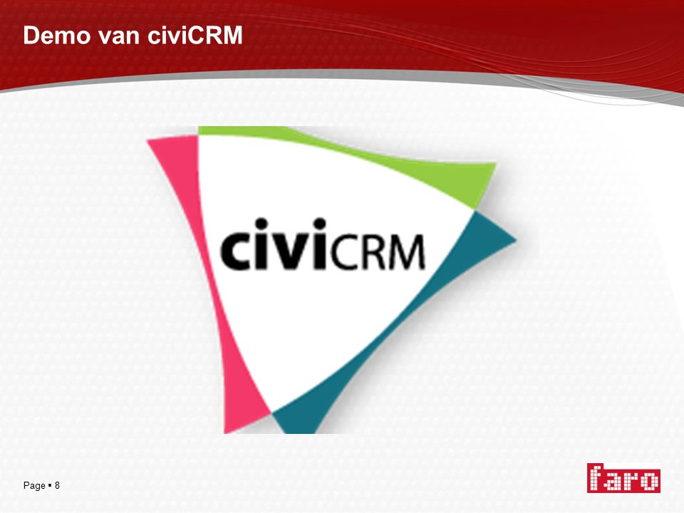 Page  8 Demo van civiCRM