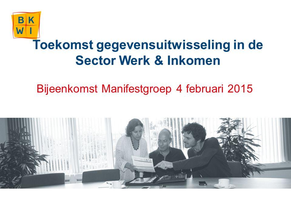 Toekomst gegevensuitwisseling in de Sector Werk & Inkomen Bijeenkomst Manifestgroep 4 februari 2015