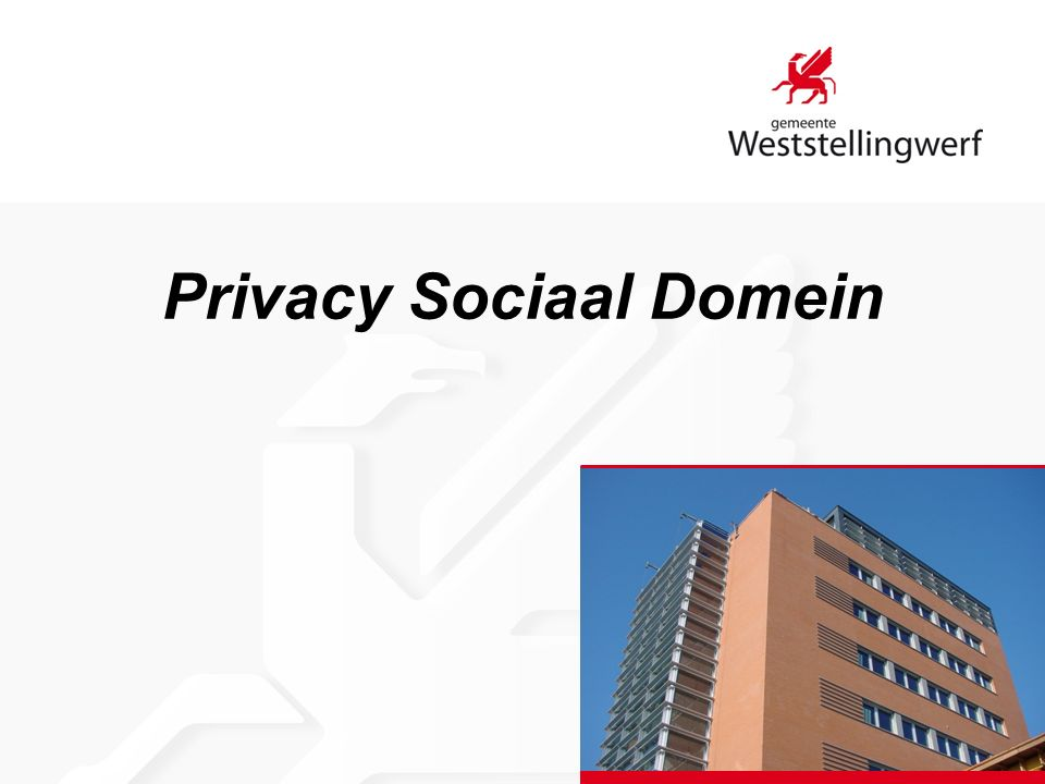 Privacy Sociaal Domein