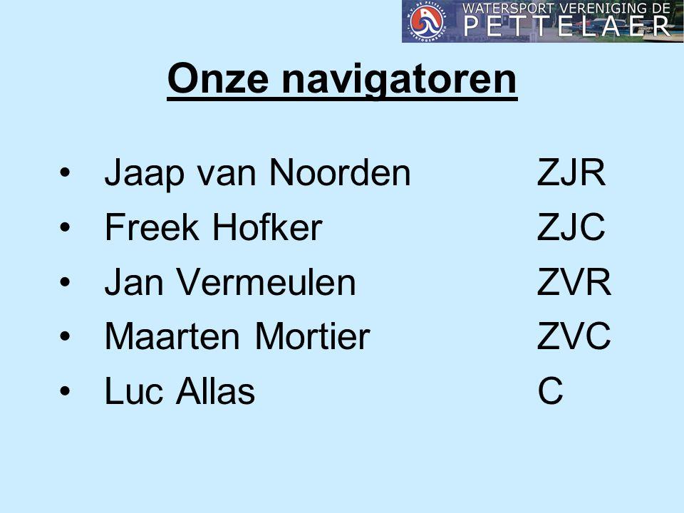 Onze navigatoren Jaap van NoordenZJR Freek HofkerZJC Jan VermeulenZVR Maarten MortierZVC Luc AllasC