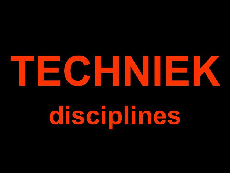 TECHNIEK disciplines