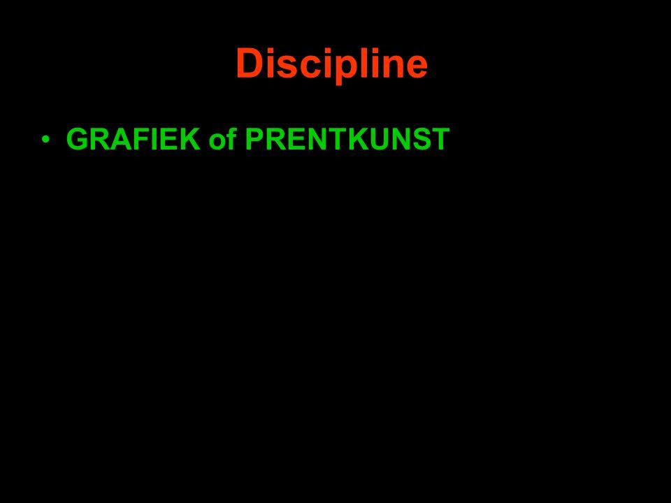 Discipline GRAFIEK of PRENTKUNST