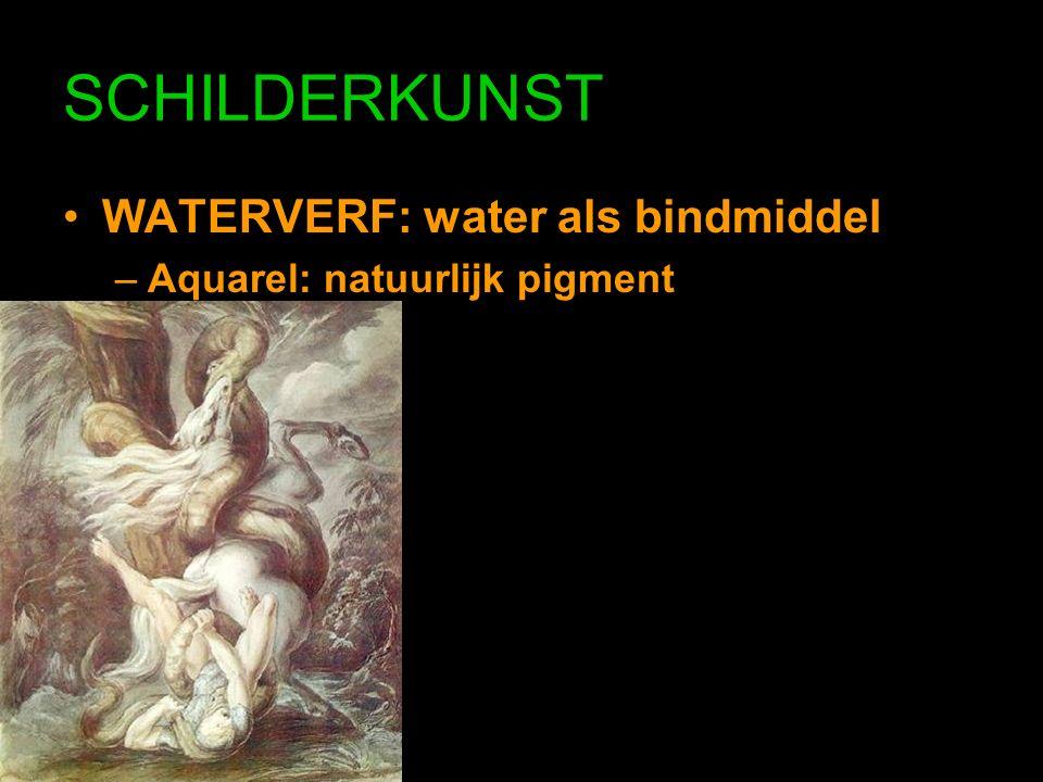 SCHILDERKUNST WATERVERF: water als bindmiddel –Aquarel: natuurlijk pigment