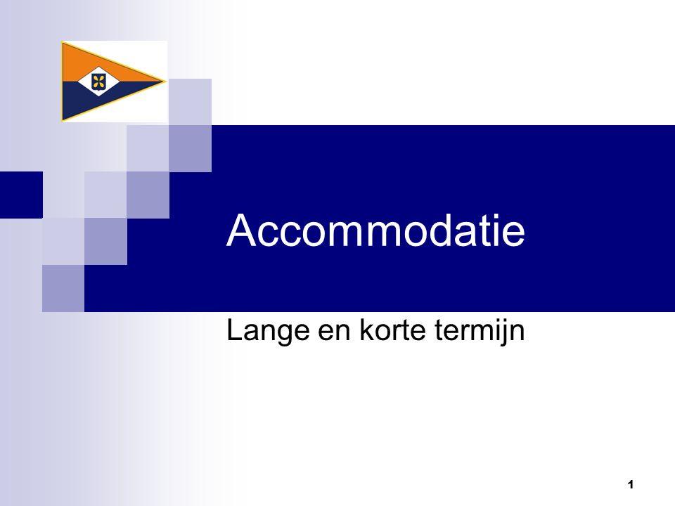 Accommodatie Lange en korte termijn 1