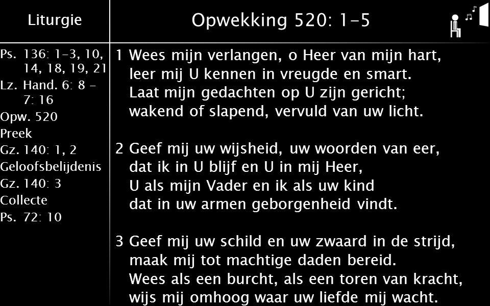 Liturgie Ps.136: 1-3, 10, 14, 18, 19, 21 Lz.Hand.