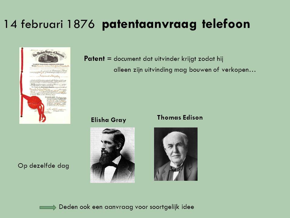 Werkplaats huren assistent Thomas Watson Sprekende telegraaf of telefoon Werkten samen aan verbeteringen toestel *ontdekken per toeval ze dat ze een geluid kunnen doorseinen...