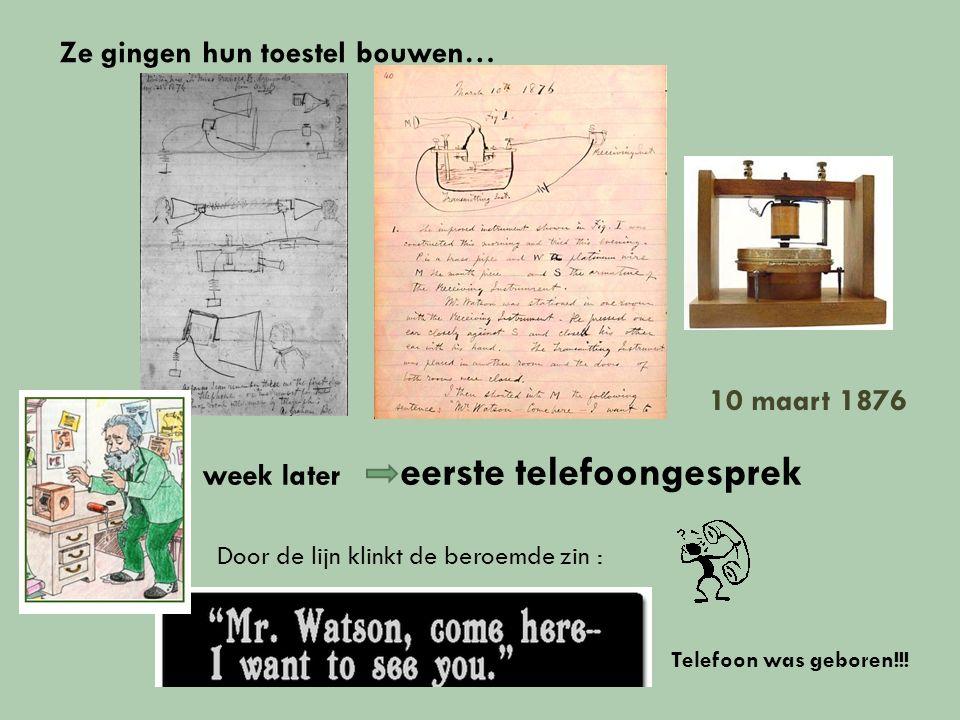 Patent telefoon 3 maart 1876 Bell staat verder in zijn ontwikkelingen krijgt patent