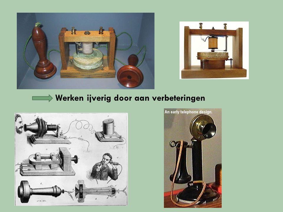 week later eerste telefoongesprek Ze gingen hun toestel bouwen… Telefoon was geboren!!.