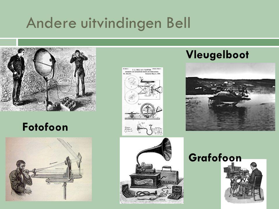 Hij bouwde ook nog… Volta Laboratorium Washington buitenverblijf in Baddock Bay Laboratorium (Nova Scotia) Hij deed hier nog veel wetenschappelijke experimenten…!
