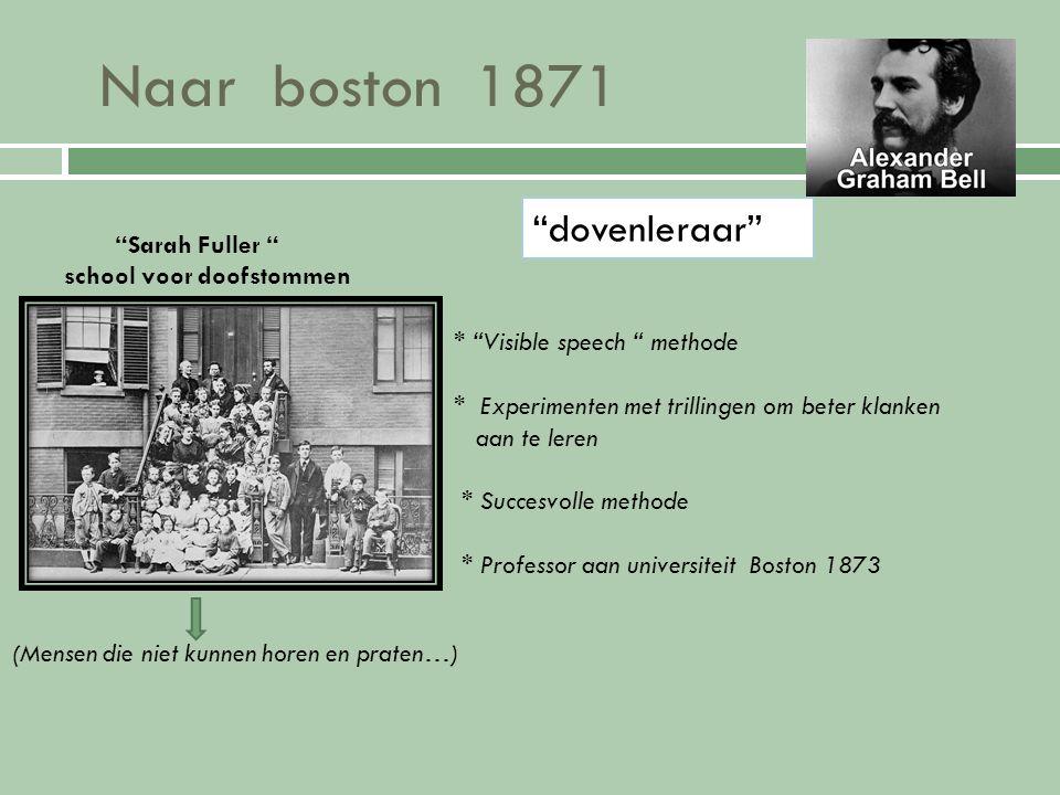 Naar canada 1870 melville house Canada (Brantford) * Broers Melville en Edward sterven aan TB gezondere omgeving.