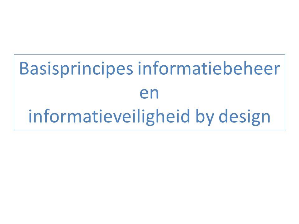 Basisprincipes informatiebeheer Modellering van de informatie – op een wijze die zo nauw mogelijk aansluit bij de realiteit – zodat die multifunctioneel kan worden gebruikt Eenmalige inzameling van feitelijke informatie bij burgers en ondernemingen in coördinatie tussen alle uitvoeringsorganisaties – via een kanaal gekozen door de burgers en ondernemingen – bij voorkeur van toepassing tot toepassing – met de mogelijkheid tot kwaliteitscontrole door degene waarbij de informatie wordt ingezameld vóór de informatie- overdracht 33
