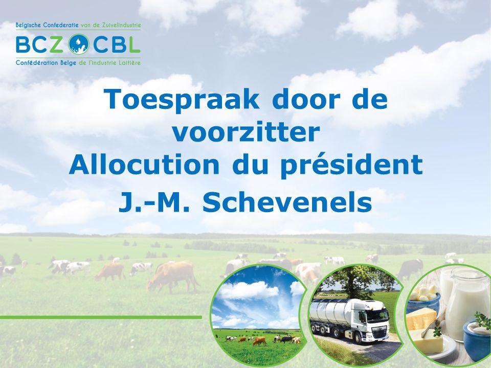 Toespraak door de voorzitter Allocution du président J.-M. Schevenels