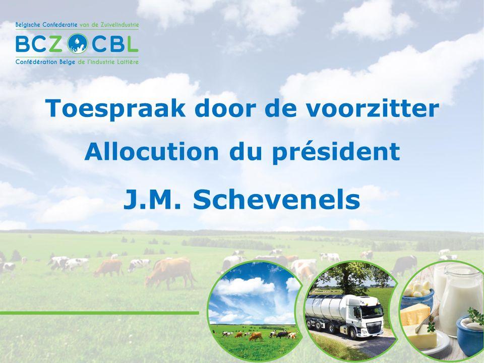 Toespraak door de voorzitter Allocution du président J.M. Schevenels