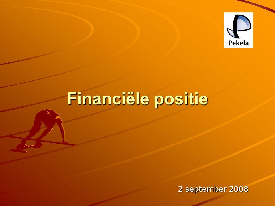 Financiële positie 2 september 2008