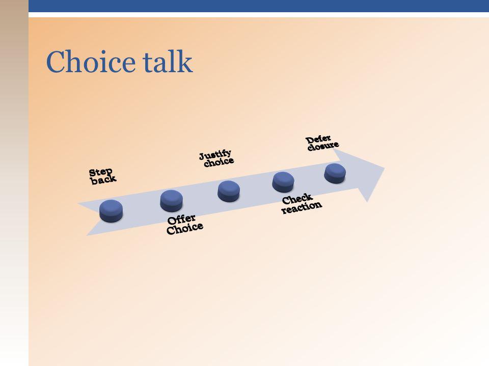 Choice talk