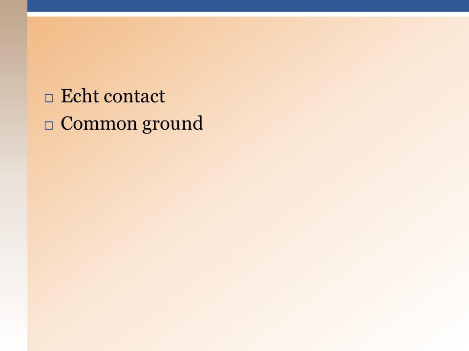  Echt contact  Common ground