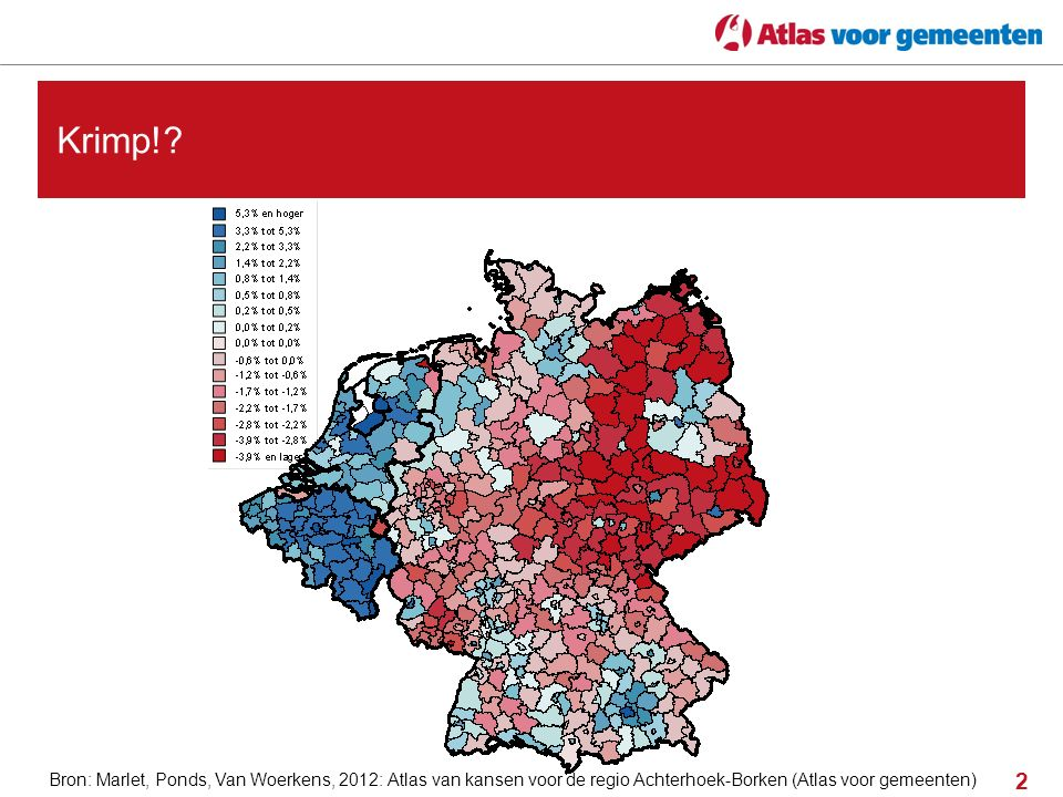 2 Krimp!? Bron: Marlet, Ponds, Van Woerkens, 2012: Atlas van kansen voor de regio Achterhoek-Borken (Atlas voor gemeenten)