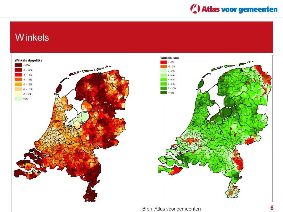 6 Winkels Bron: VGM, bewerking: Atlas voor gemeentenBron: Atlas voor gemeenten