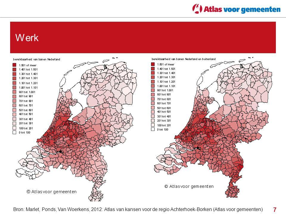 8 Grensbarrières op de arbeidsmarkt Bron: Marlet, Ponds, Van Woerkens, 2012: Atlas van kansen voor de regio Achterhoek-Borken (Atlas voor gemeenten)