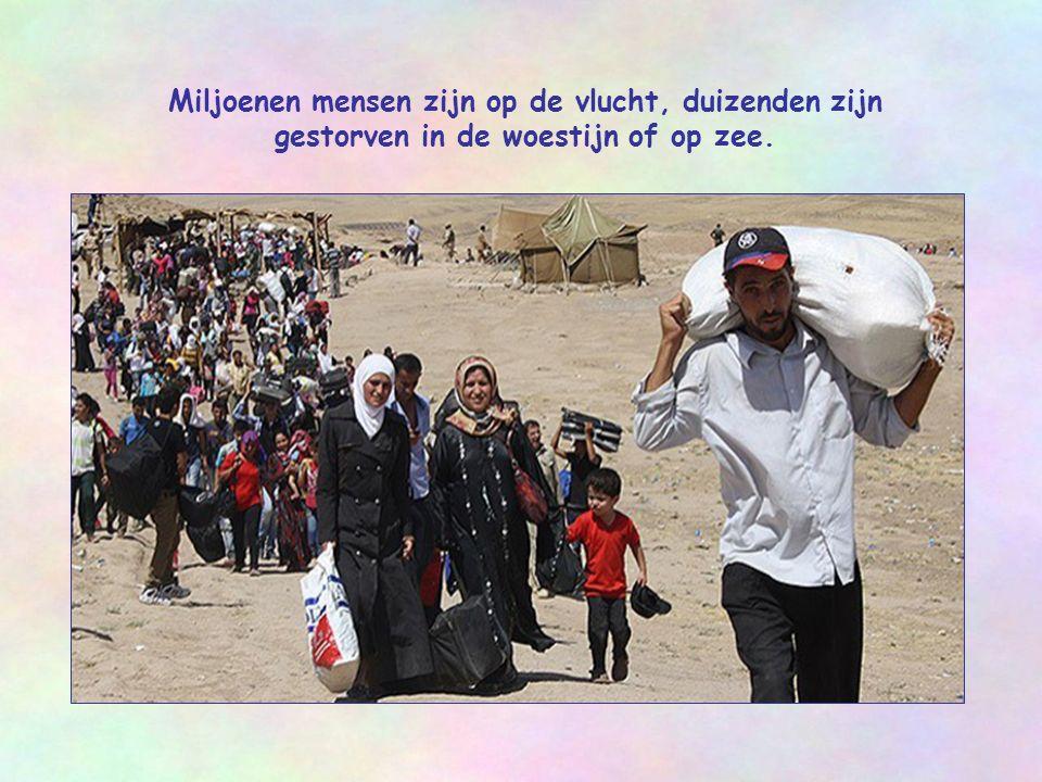 Miljoenen mensen zijn op de vlucht, duizenden zijn gestorven in de woestijn of op zee.